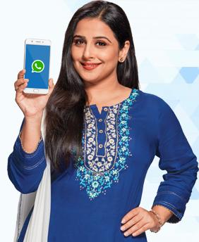 Muthoot Blue - Whatsapp Number: Vidya Balan :  Muthoot Fincorp