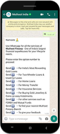 Muthoot Blue is now on WhatsApp!