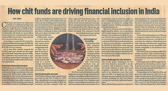 How chit funds are driving financial inclusion in India