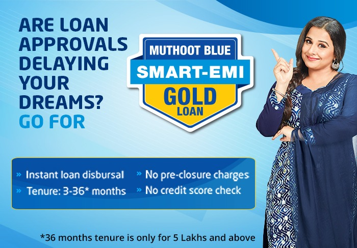 Muthoot Blue Smart-Emi Gold Loan
