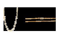 Hallmarked 916 Line Chain